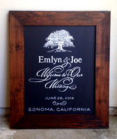 Emlyn Chalkboard Welcome Sign, Sonoma